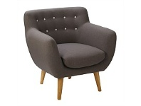 Briscoes NZ Henry & Hugo Clayton Lounge Chair Grey