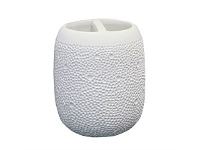 Briscoes NZ Volere Resin Dimple Toothbrush Holder White