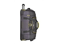 Briscoes NZ High Sierra Ultimate Access Wheeled Duffle Charcoal & Yellow