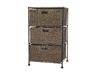 Briscoes NZ Seville Seagrass Storage Unit Natural 3 Drawer