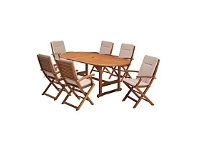 Briscoes NZ Coastal Classic Kingsbury 7 Piece Outdoor Furniture Setting
