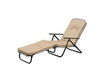 Briscoes NZ Outdoor Creations Southland Steel Padded Folding Lounger