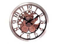 Briscoes NZ The Time Company Brown Gear Wall Clock 30.5cm
