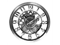 Briscoes NZ The Time Company Silver Gear Wall Clock 30.5cm