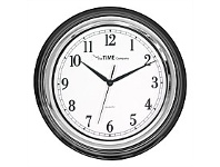 Briscoes NZ The Time Company Victoria Black Wall Clock 35.4cm