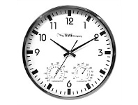 Briscoes NZ The Time Company Weather Station Wall Clock 35.5cm