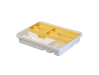 Briscoes NZ Tontarelli Mixer Cutlery Tray White & Yellow