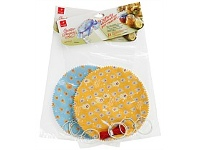 Briscoes NZ Bormioli Rocco Quattro Stagioni Fabric Covers 6pk