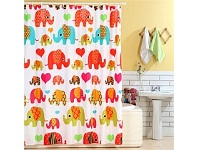 Briscoes NZ Cloud 9 Elephant Shower Curtain Multi 180cm x 180cm