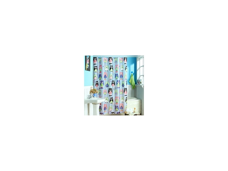Cloud 9 Owl Shower Curtain Multi 120cm x 180cm