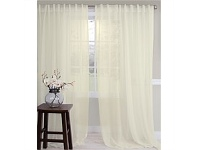 Briscoes NZ Classic Living Crushed Voile Sheer Tab Top Curtain