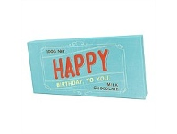 Briscoes NZ Bloomsberry Happy Birthday Milk Chocolate Aqua 100g