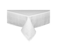 Briscoes NZ Simon Gault Spill Proof Check White Tablecloth 150x260cm