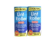 Briscoes NZ Raven Lint Rollet Refill 2 x 50 Sheets White