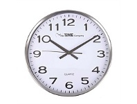 Briscoes NZ The Time Company Stainless Steel Wall Clock