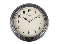 Briscoes NZ The Time Company Round Plastic Clock Black 29cm