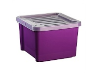 Briscoes NZ Hobby Box With Lid Purple 30 Litre