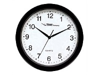 Briscoes NZ The Time Company Basic Wall Clock 31cm Black