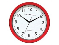 Briscoes NZ The Time Company Basic Wall Clock 31cm Red