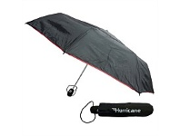 Briscoes NZ Hurricane Vented Folder Umbrella Black & Red