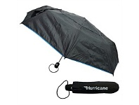 Briscoes NZ Hurricane Vented Folder Umbrella Black & Cyan
