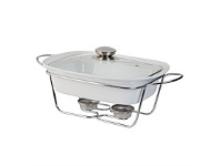 Briscoes NZ Tablefair Rectangle Casserole with Lid and Stand 1.3L
