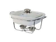 Briscoes NZ Tablefair Square Casserole with Lid and Stand 1.1L