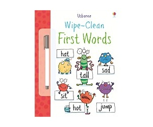 Usborne Wipe Clean First Words Book