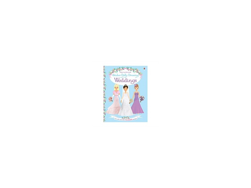 Usborne Sticker Dolly Dressing Weddings Book