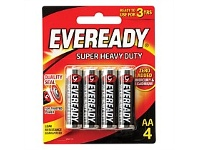 Briscoes NZ Eveready 1215bp4 Super Heavy Duty AA - 4 Pack