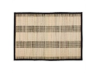 Briscoes NZ Just Home Hugo Black Bamboo Placemat