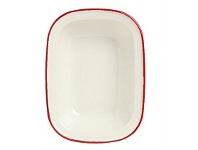 Briscoes NZ Wiltshire Enamel Pie Dish Oblong 26cm Red Rim