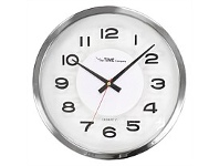 Briscoes NZ The Time Company Nixon Wall Clock Silver 30.5cm