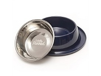 Briscoes NZ Totally Pooched Dog Bowl & Cup Blue Medium Single