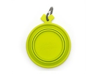 Briscoes NZ Totally Pooched Collapsible Silicone Dog Bowl Green Medium