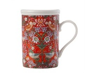 Briscoes NZ Maxwell & Williams WMorris Strawberry Red Infuser Mug 350ML