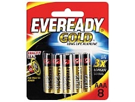 Briscoes NZ Eveready Gold Battery AAA 8 Pack A92BP8