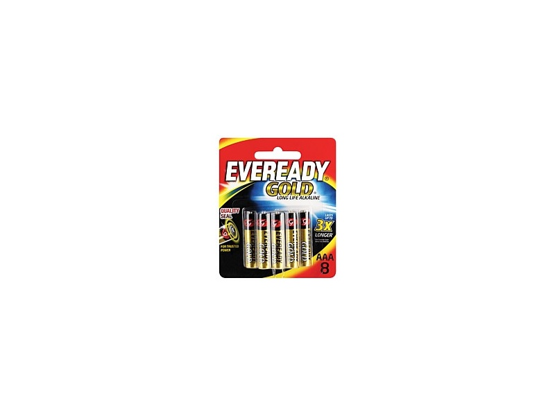 Eveready Gold Battery AAA 8 Pack A92BP8