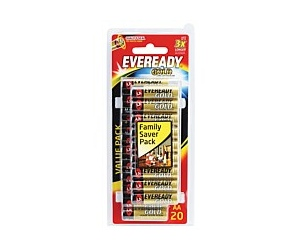 Eveready Gold Battery AA 20 Pack A91HP20