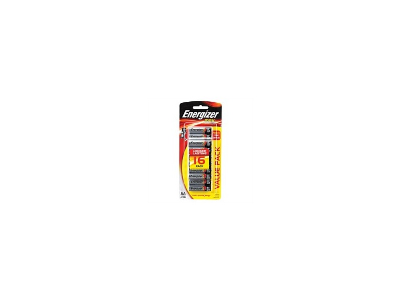 Energizer Max Battery AA 16 Pack E91RP16T