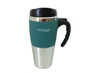 Briscoes NZ Thermos Travel Mug Soft Feel Outer Green 450ml