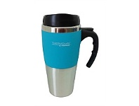Briscoes NZ Thermos Travel Mug Soft Feel Outer Cyan 450ml