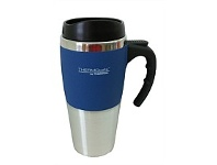 Briscoes NZ Thermos Travel Mug Soft Feel Outer Blue 450ml