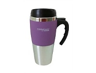 Briscoes NZ Thermos Travel Mug Soft Feel Outer Purple 450ml
