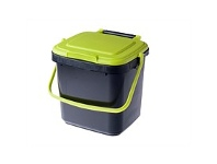 Briscoes NZ Maze Compost Caddy Black & Green 7 Litre & 20 Pack Liners