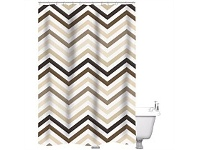Briscoes NZ Just Home Phillips Shower Curtain Linen 180x180cm