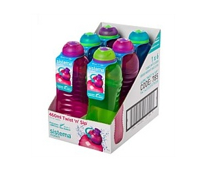 Sistema Twist N Slip Drink Bottle 460ml Assorted