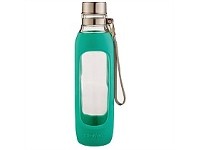 Briscoes NZ Contigo Purity Glass Drink Bottle Jade 591ml