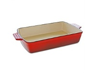 Briscoes NZ Simon Gault Cast Iron Lasange Pan Red 33x23cm
