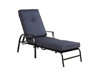 Briscoes NZ Outdoor Creations Heritage Cushion Lounger Steel